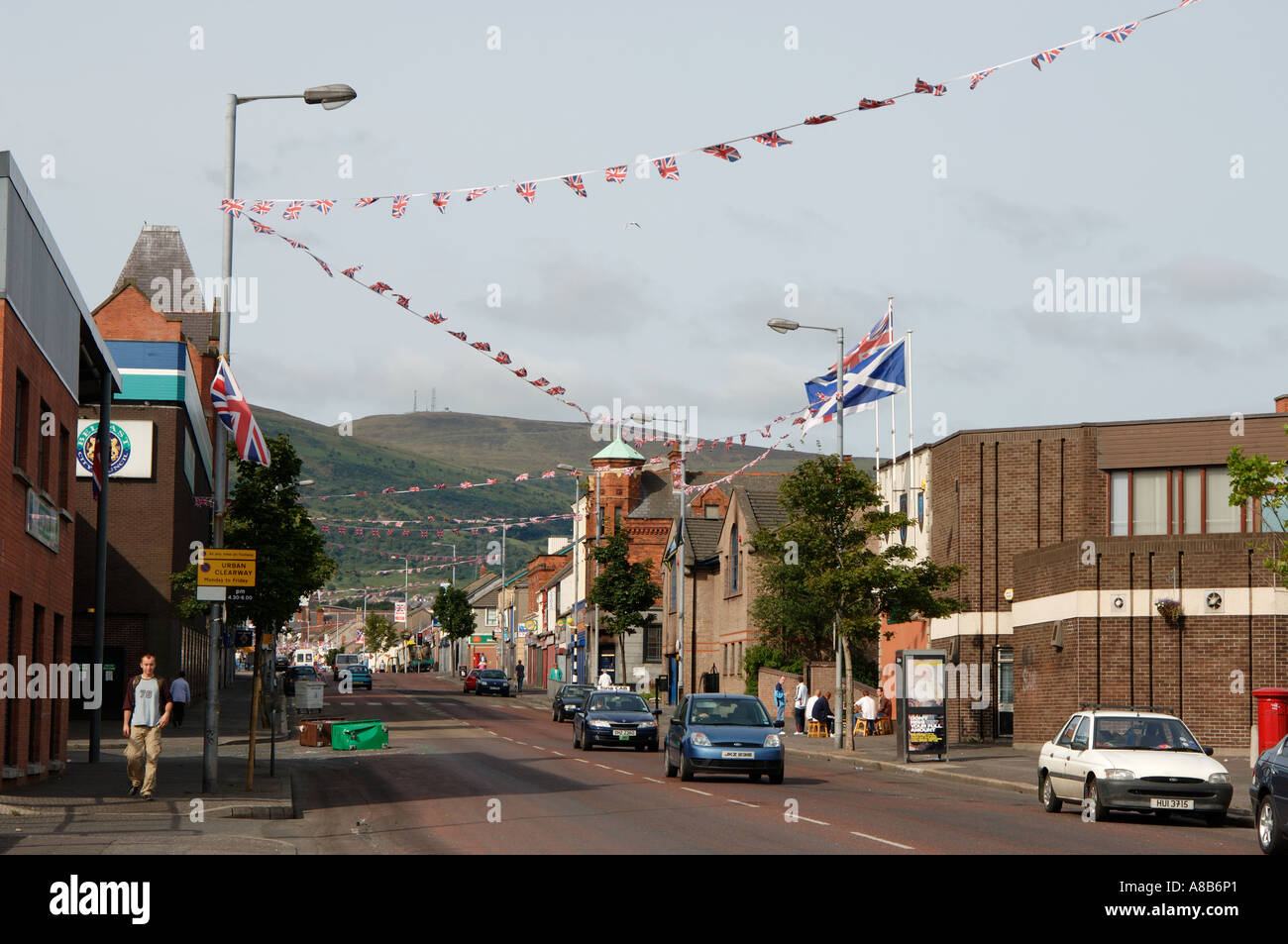 Shankill Road - Stock Image