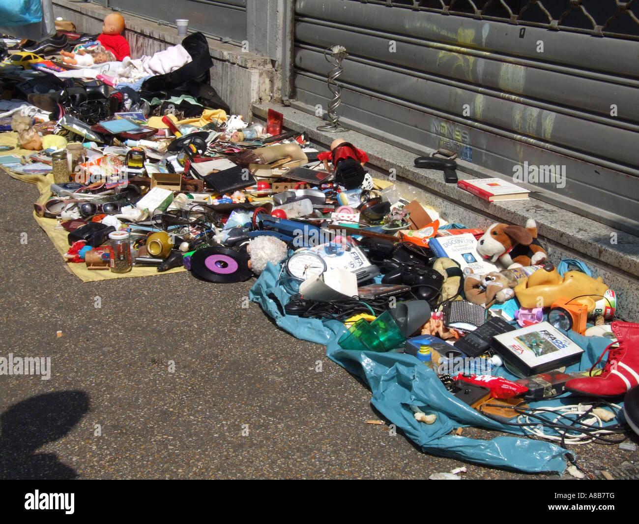 Goods Old Sale Ground Floor Rubbish Trash Junk Car Boot Stock Photos ...