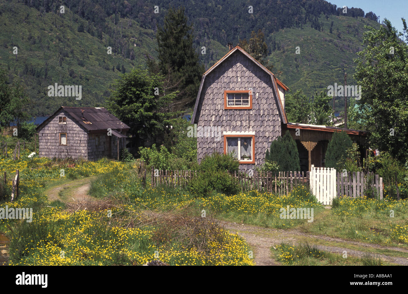 Chile Patagonia Puerto Puyuhuapi - Stock Image