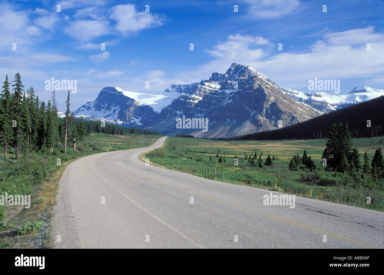 Mountain Highway Banff National Park Alberta Canada - Stock Image