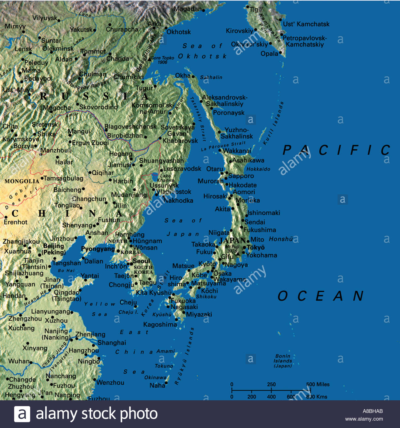 Map Of Asia Japan And China.Map Maps Asia Japan China Korea Stock Photo 3933610 Alamy