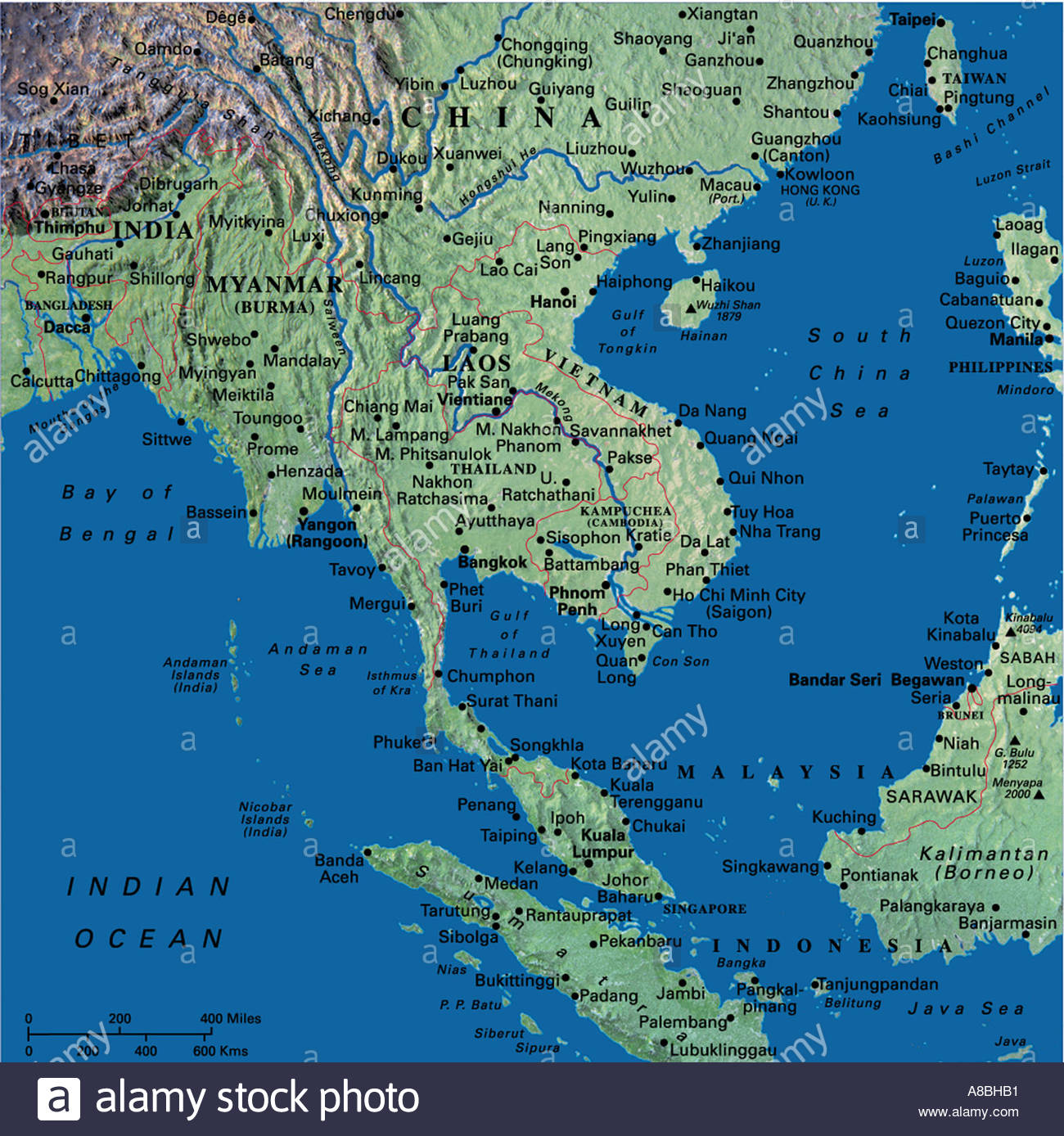 Map Of Thailand Stock Photos & Map Of Thailand Stock Images - Alamy