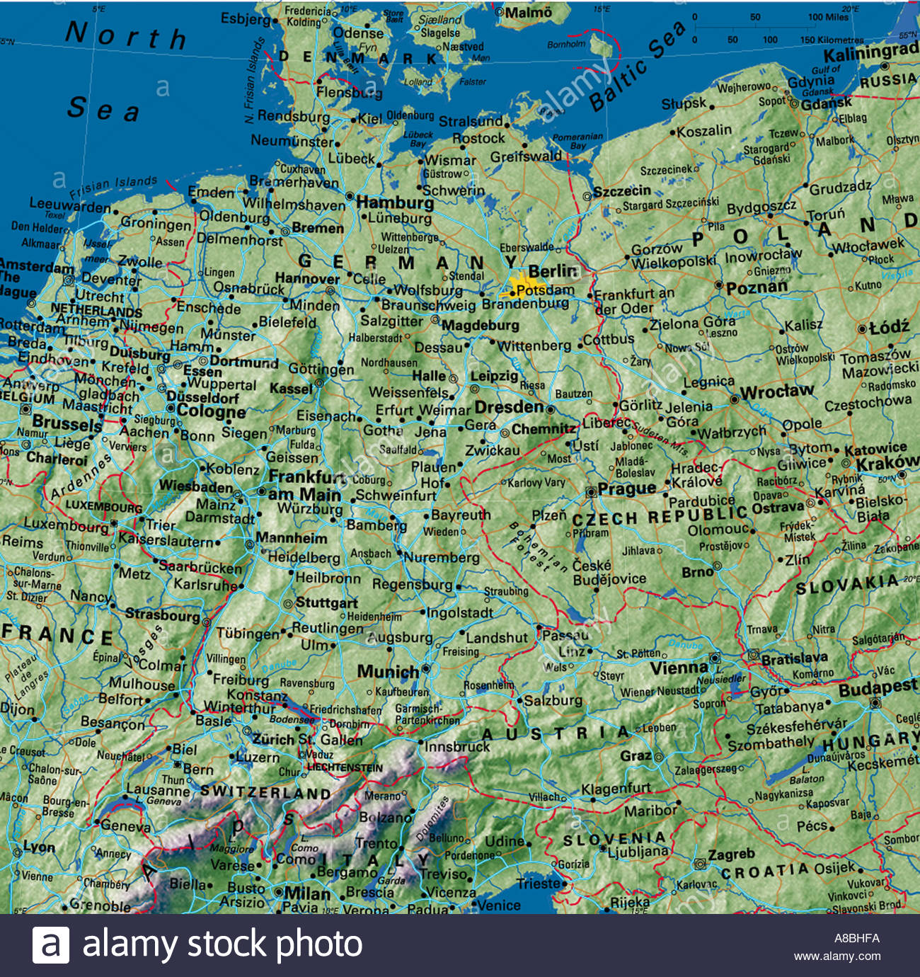 map maps europe netherland belgium germany austria poland