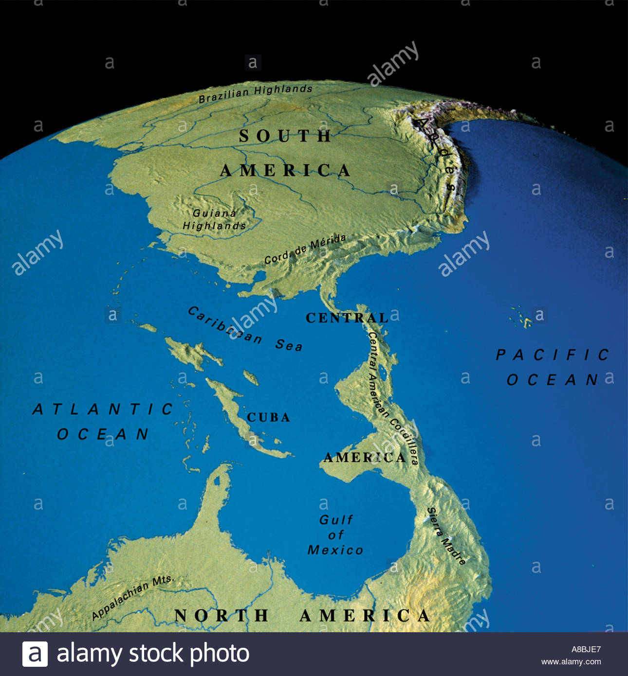 Map maps globe north america stock photos map maps globe north map maps globe north america south america caribbean cuba venezuela columbia stock image gumiabroncs Image collections