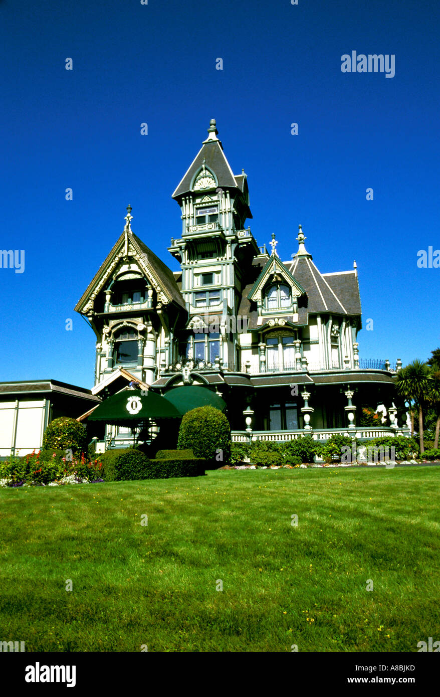 California Redwood Country The Carson Mansion in Eureka - Stock Image