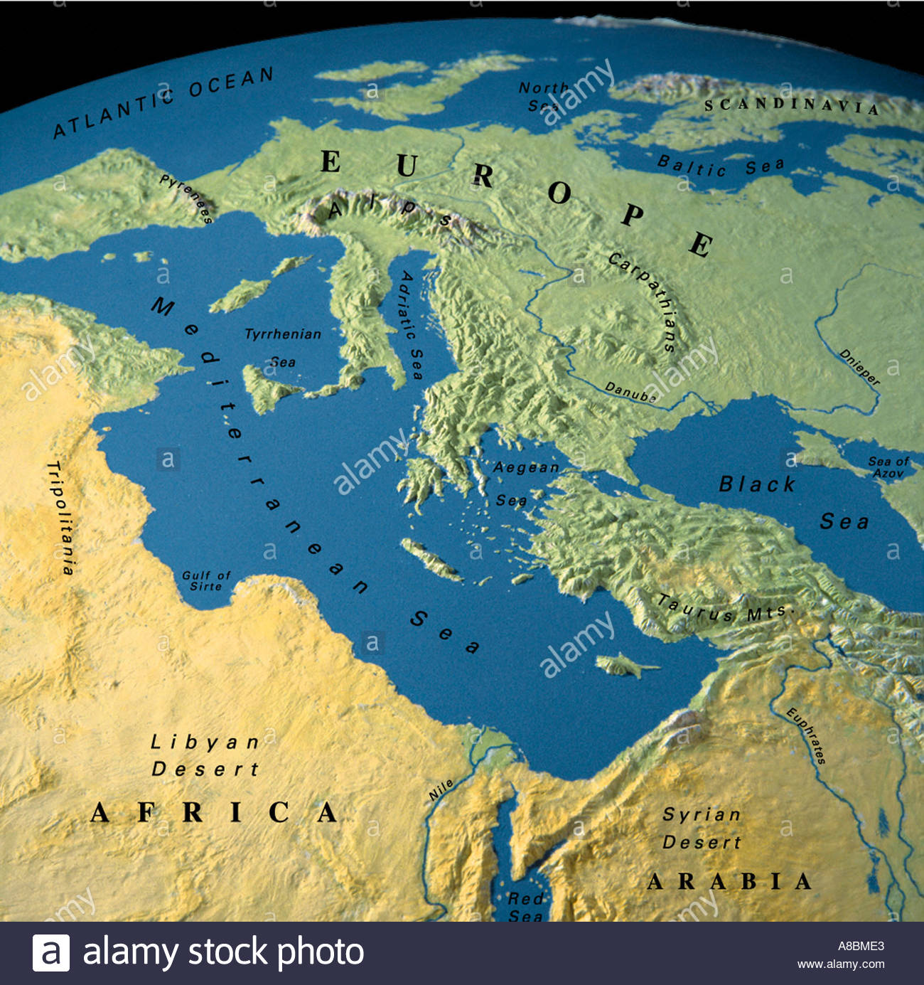 globe map maps Europe Africa Middle East Stock Photo: 3934434 - Alamy