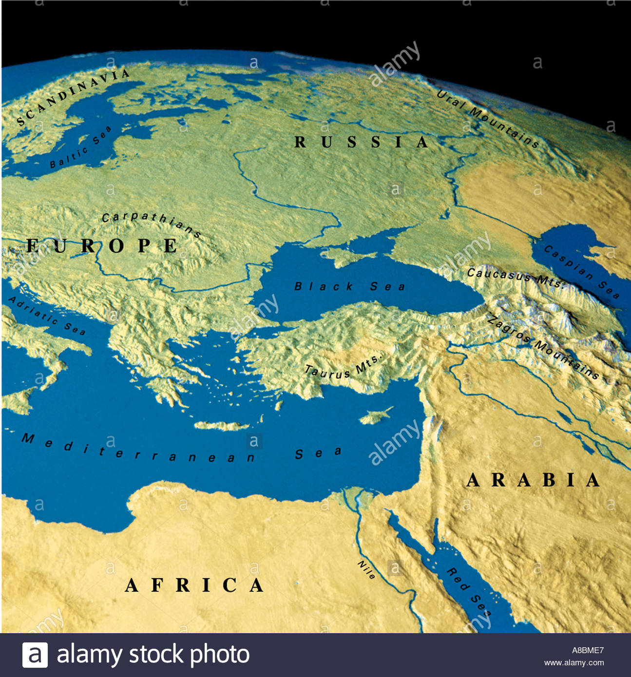 globe map maps Europe Africa Middle East Stock Photo: 3934438 - Alamy