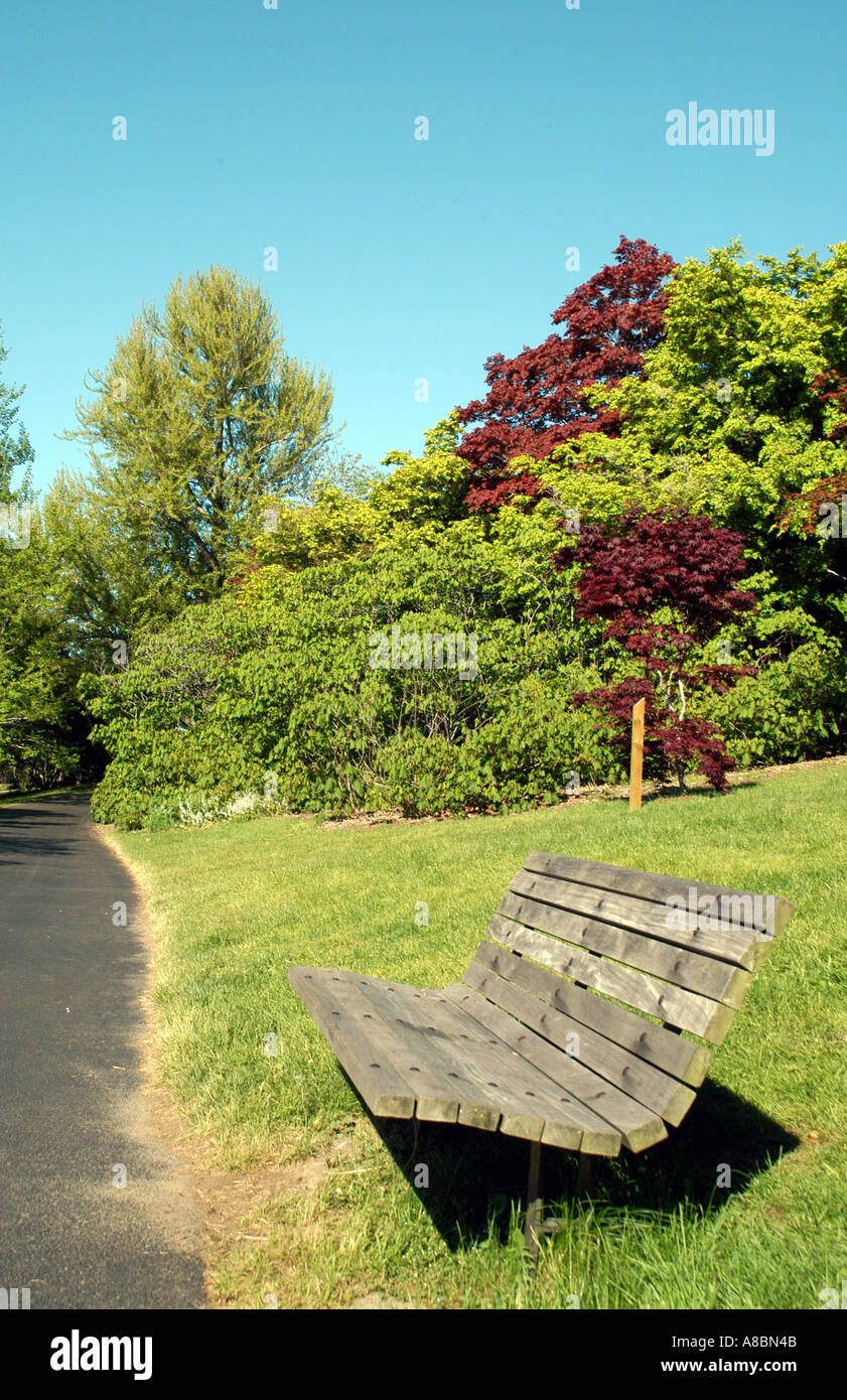 Bench In Spring Highland Park Rochester Ny Stock Photo 3934538 Alamy
