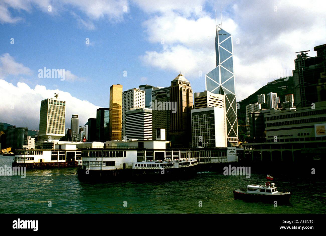 Hong Kong Harbor - Stock Image