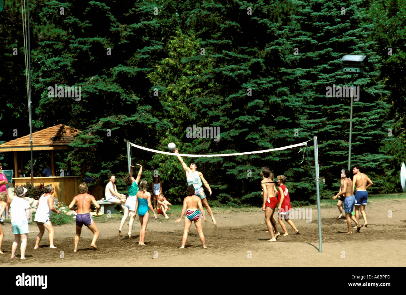 Minnesota Lake Country Volleyball at Grand View Lodge on Gull Lake Brainerd MN - Stock Image