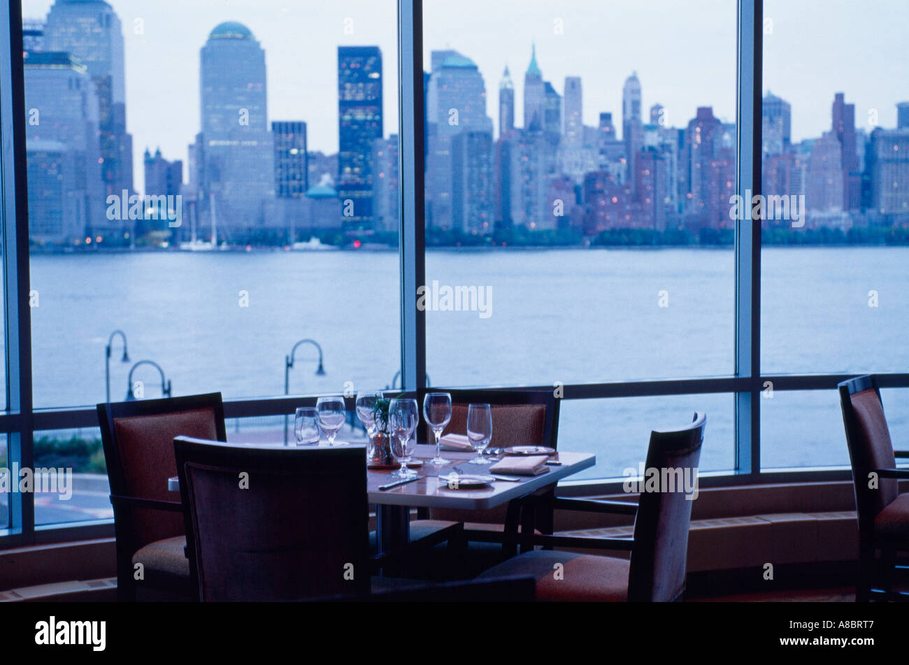 Usa New York Manhattan View From The Window Of Restaurant