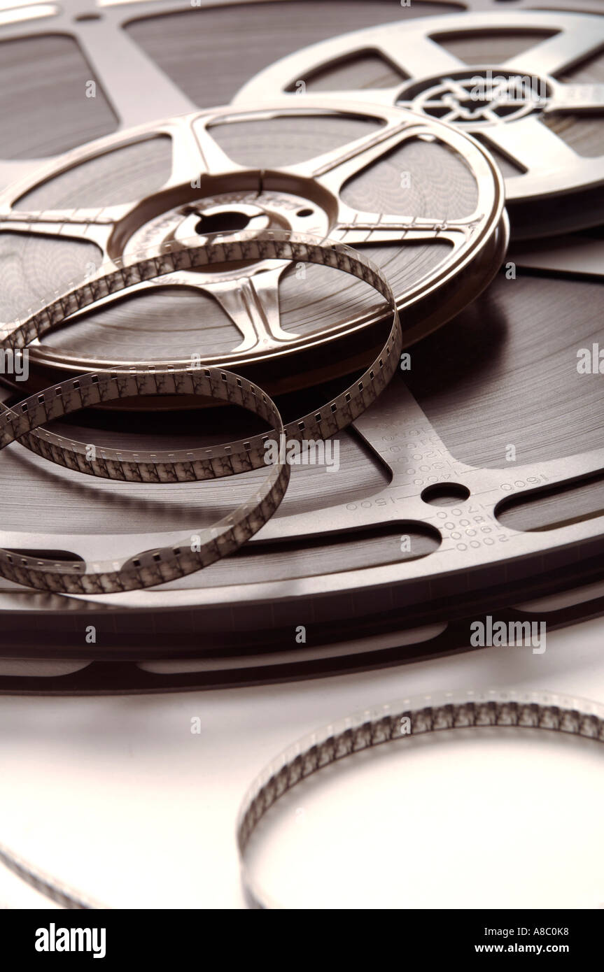 Image many reels of film - Stock Image