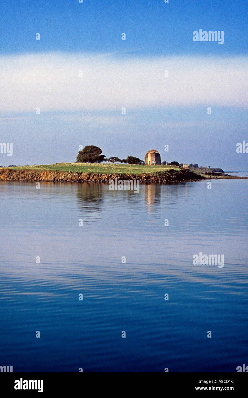 Island with old structure Ayvalik Turkey Stock Photo