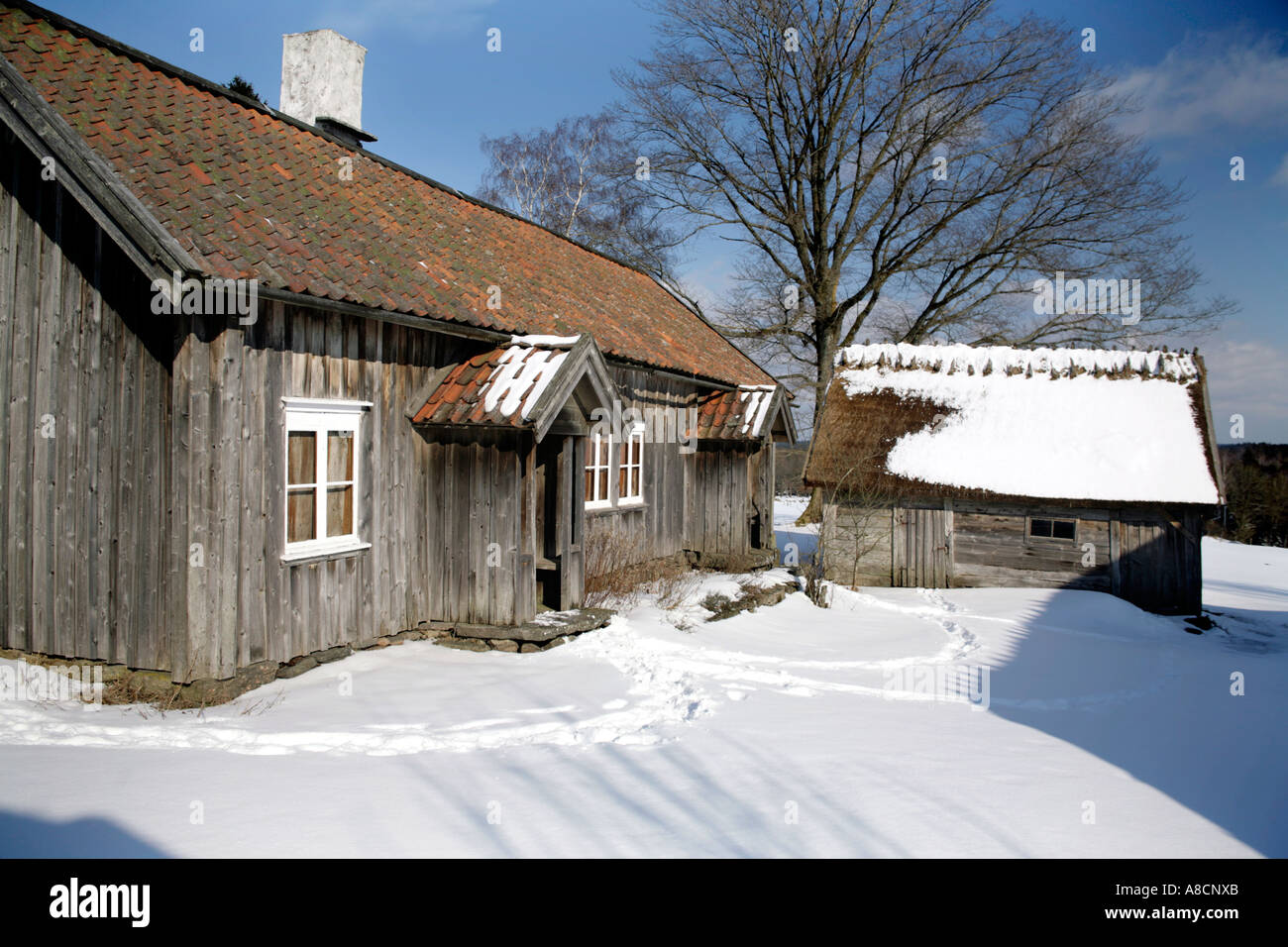 Farmstead Askhult Village - Stock Image