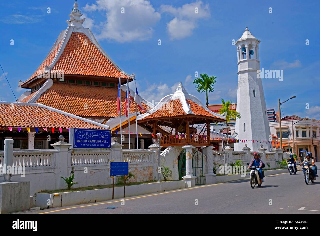 Kampung Hulu Mosque Malacca Malaysia Stock Photo Alamy
