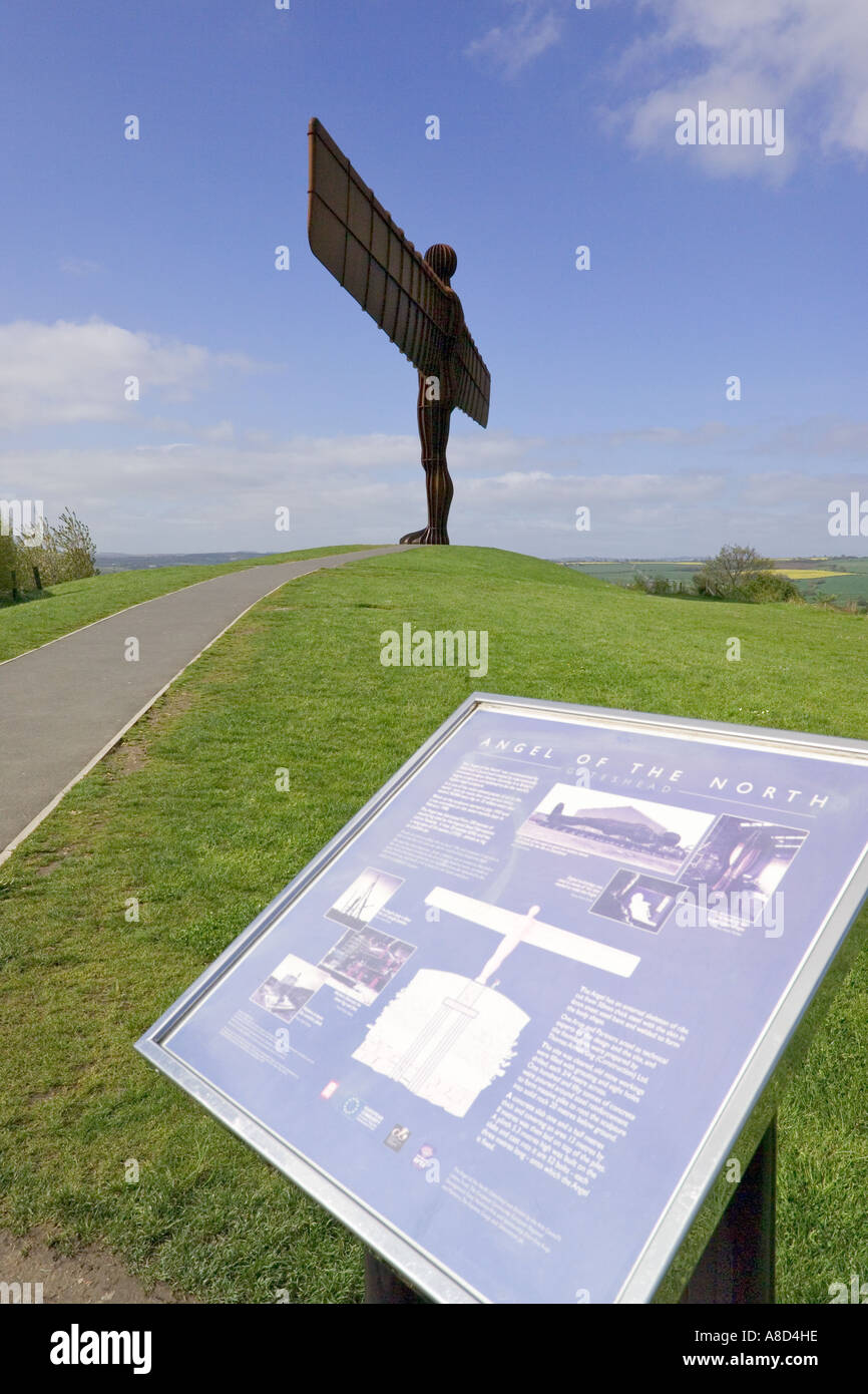 The Angel of the North sculpture by Anthony Gormley at Gateshead, Tyne & Wear Stock Photo