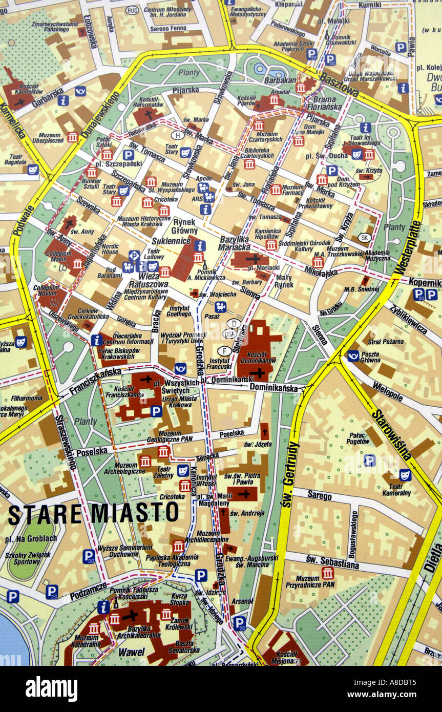 Map Of Cracow Stock Photos & Map Of Cracow Stock Images - Page 2 - Krakow Map on jiangmen city map, venice map, wawel castle map, paris charles de gaulle map, poland map, poznan map, moscow map, bregenz austria map, naples map, kovno map, malopolska map, mielec map, stettin map, transilvania map, carpathian mountains map, singapore hotel map, cracovia polonia map, gdansk map, sarajevo map, milan map,