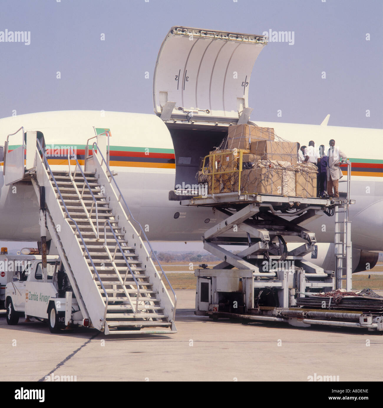 Loading air cargo - Stock Image