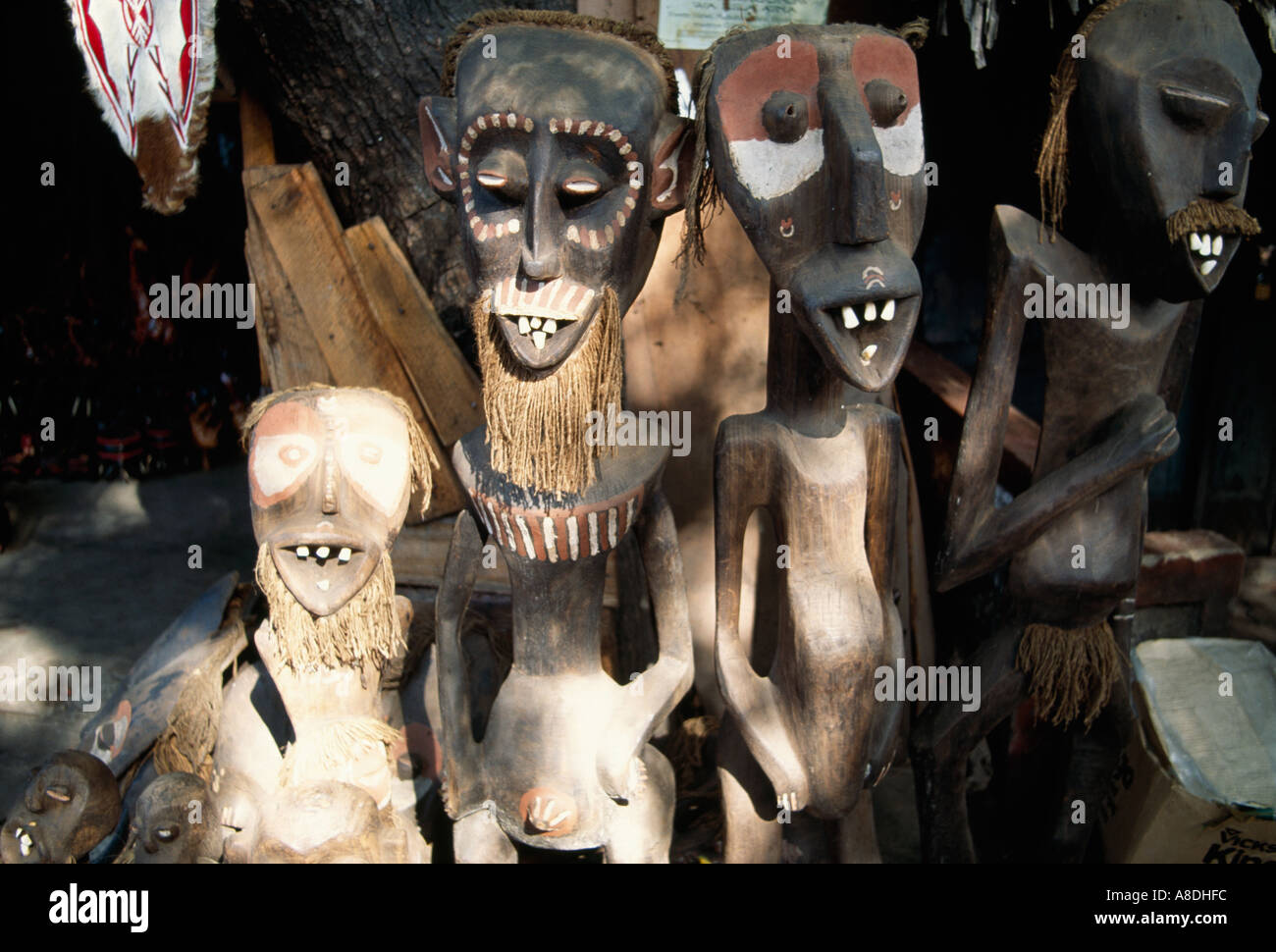 Traditional local figures Kenya West Africa - Stock Image
