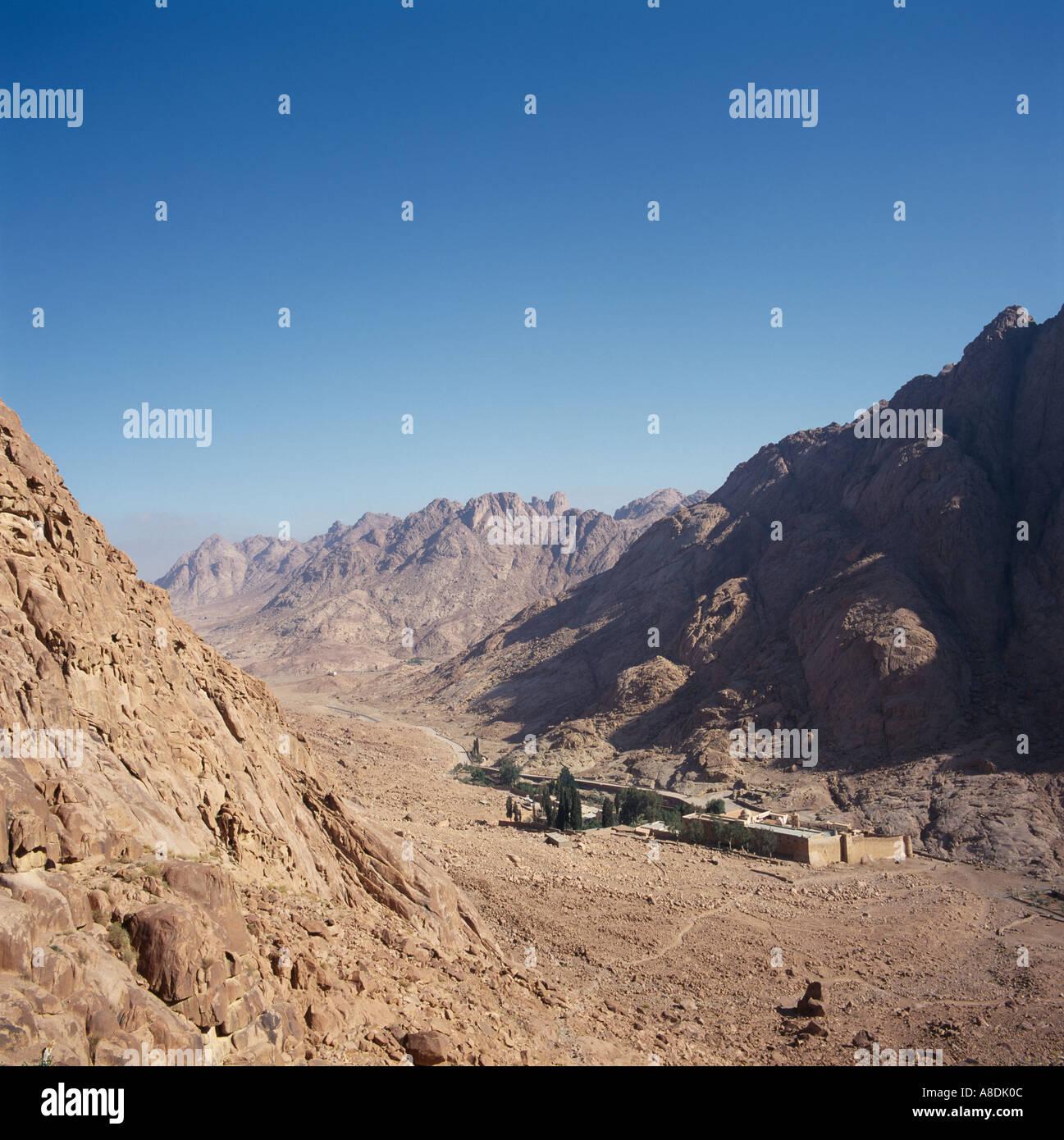 Saint Katherines Monastery Sinai Desert Egypt North Africa - Stock Image
