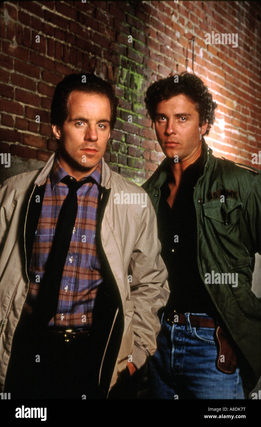 TO LIVE AND DIE IN LA - 1985 New Century film with John Turturro at left and William Dafoe - Stock Image