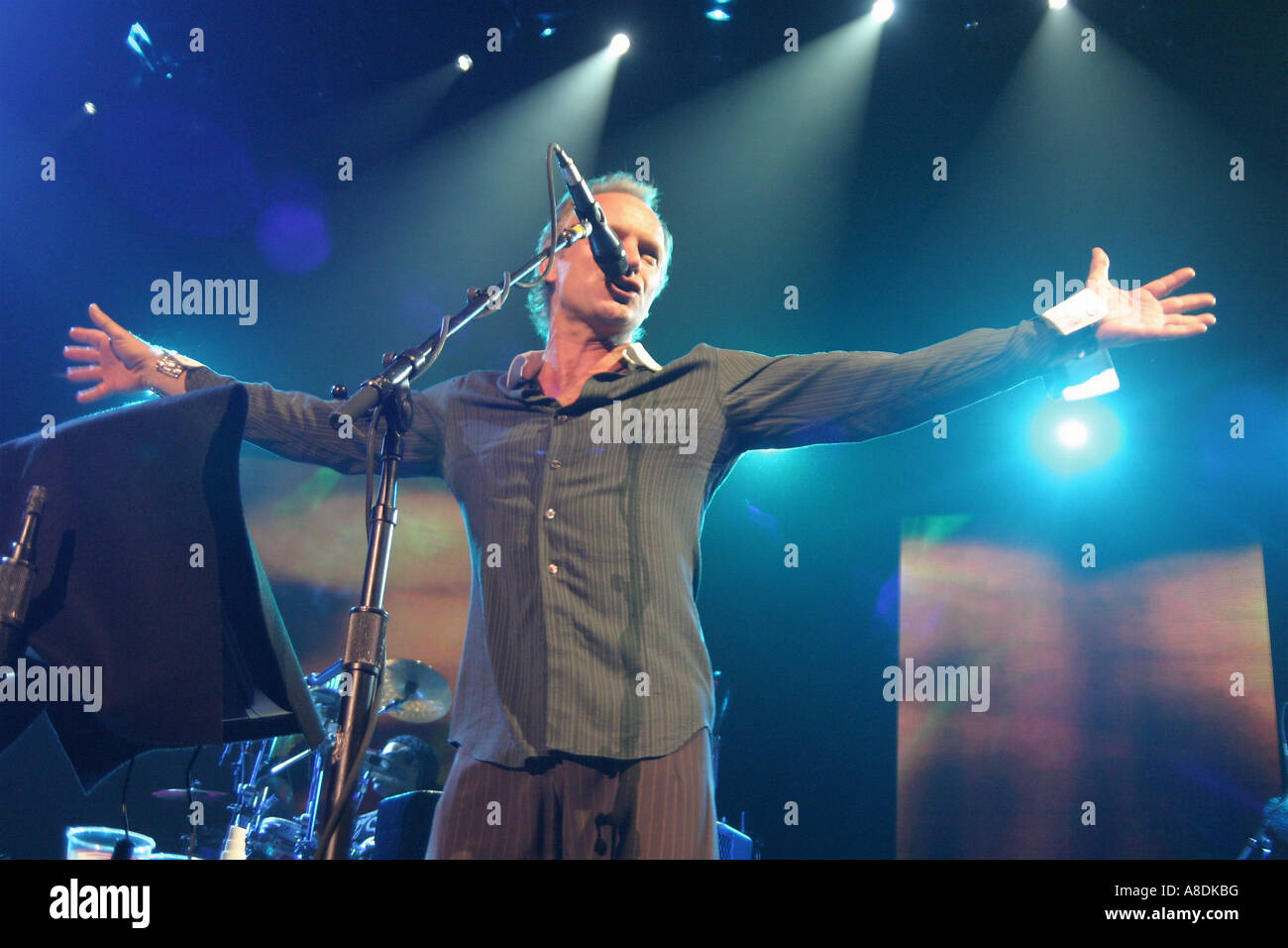 POLICE - UK group with Sting - Stock Image