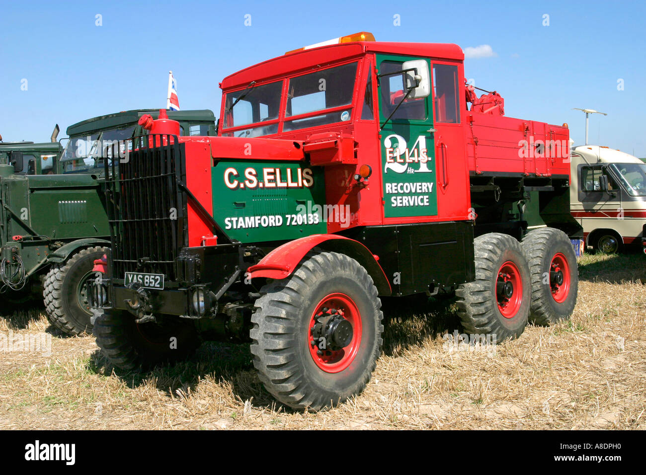 C.S. Ellis Scammell Explorer recovery vehicle at the Dorset Steam Fair, England, UK. - Stock Image
