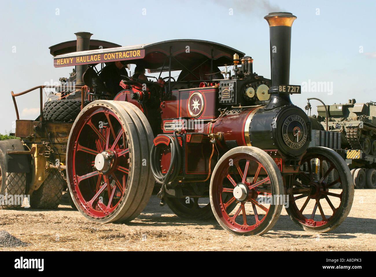 1908 Burrell road locomotive (3057) reg BE7217 'Lord Roberts' at the Dorset Steam Fair, England, UK. - Stock Image