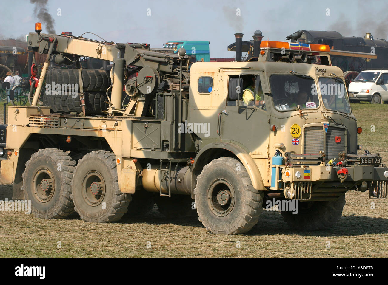 AEC Militant recovery vehicle at Dorset Steam Fair, England, UK. - Stock Image