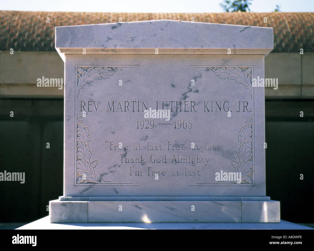 Martin Luther King Jr Grave Atlanta Georgia Usa Stock Photo