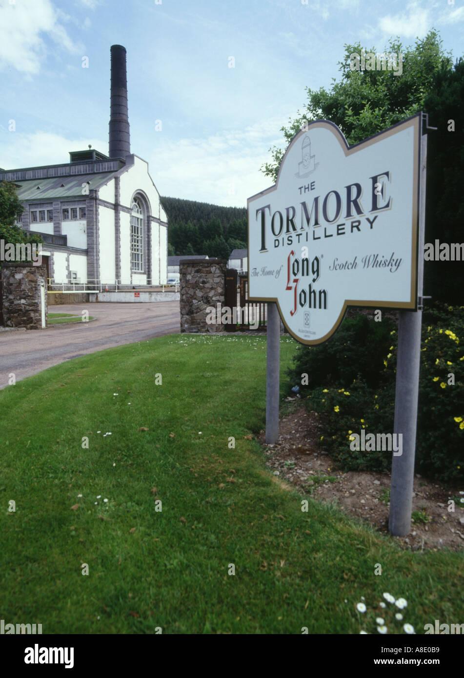 dh Tormore distillery SPEYSIDE MORAY Distillery buildings Long John malt Whisky trail scotland scottish highlands whiskey Stock Photo