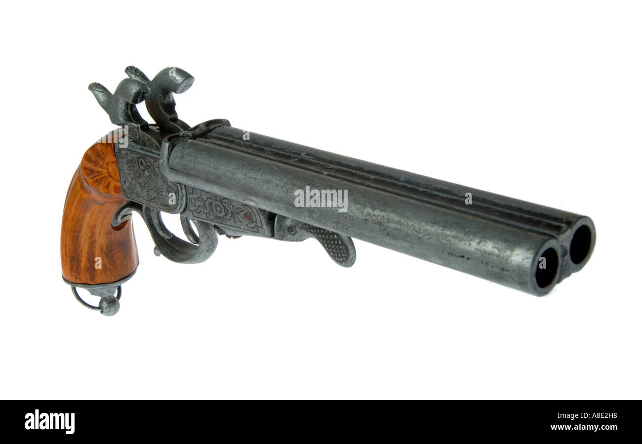 Antique pistol gun - Stock Image