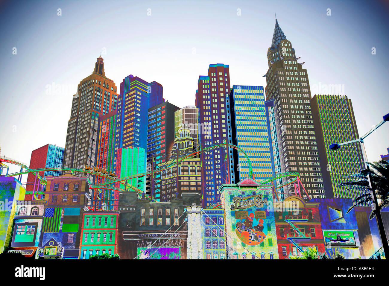 'New York New York' Complex, 'Las Vegas' - Stock Image