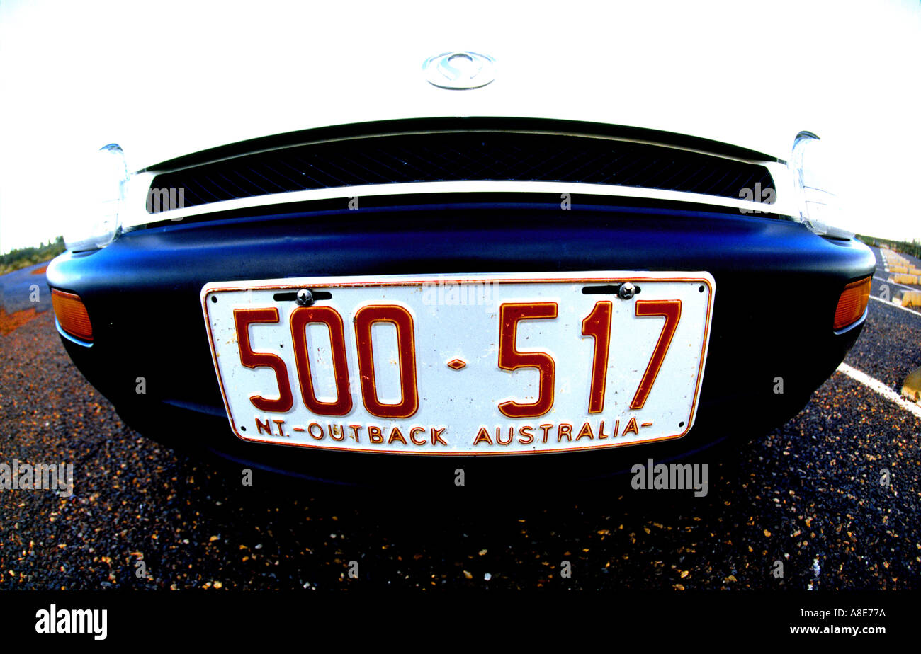 Northern Territory car number plate Hire car Australia Stock Photo ...