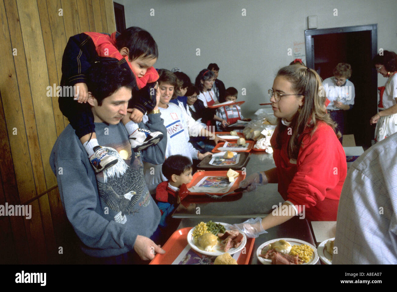 Teen Serving Christmas Dinner Church Stock Photos & Teen Serving ...