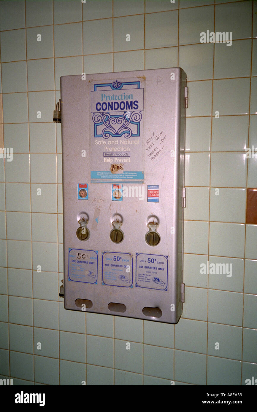 Bathroom condom dispenser