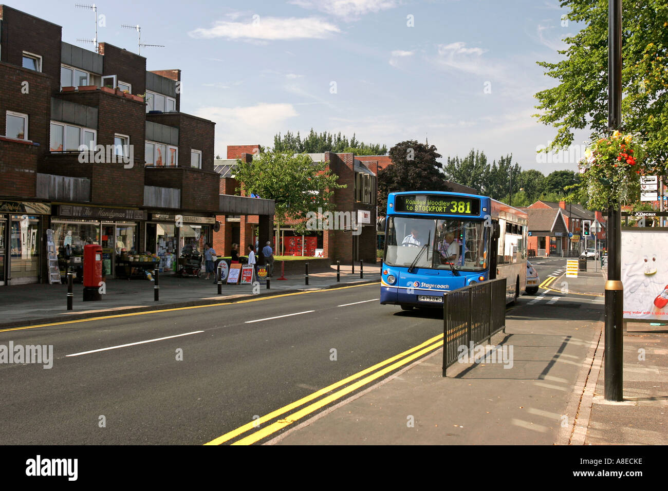 Cheshire Stockport Romiley Compstall Road Shopping And Local Transport