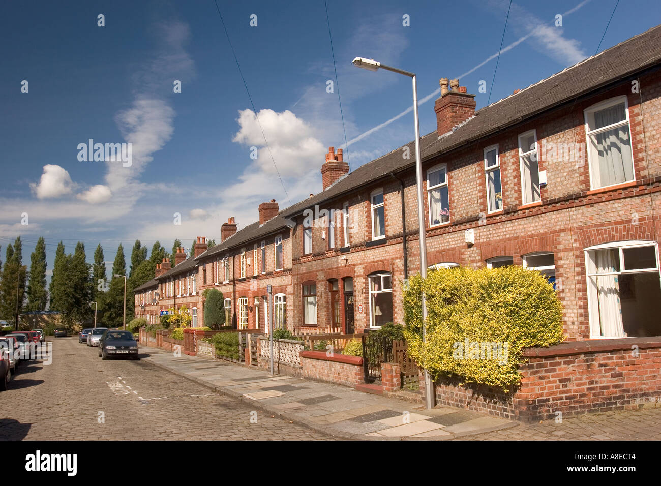 Cheshire Stockport Heaton Mersey Poplar Street - Stock Image