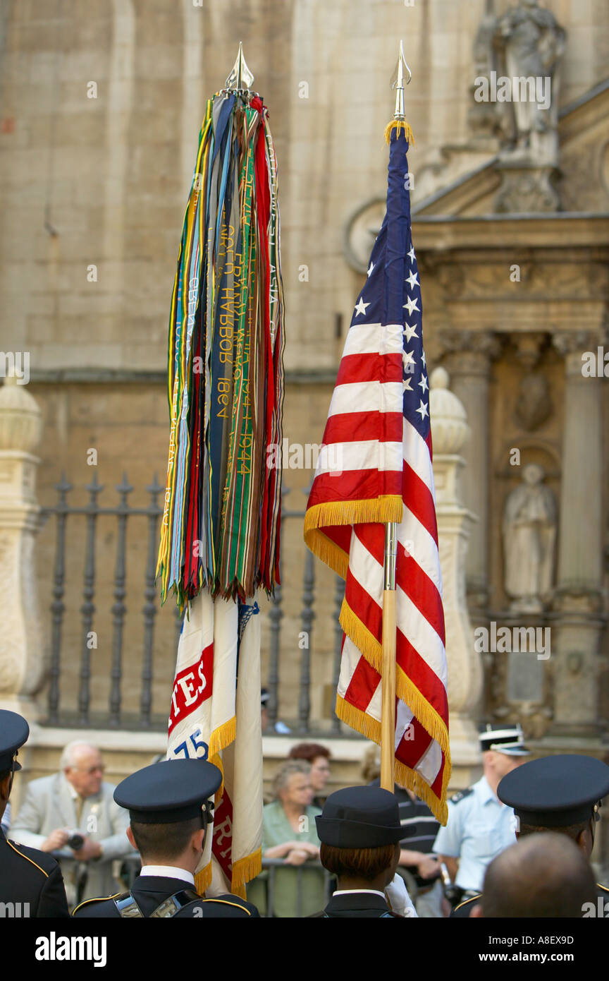 Luxembourg City. A ceremony to remember the liberation of Luxembourg - Stock Image
