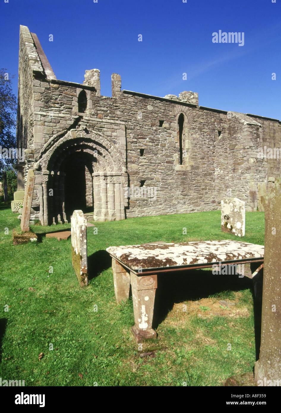 dh  WHITHORN DUMFRIES Whithorn Priory Romanesque doorway pilgramage centre St Ninian Stock Photo