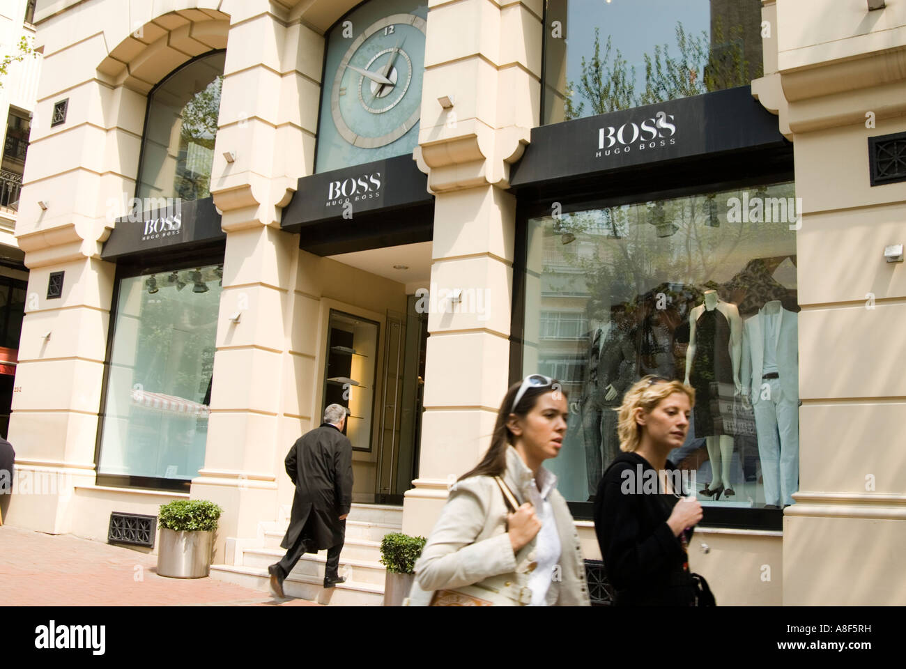 official top brands official photos Hugo Boss fashion shop in Nisantasi Istanbul Turkey Stock ...