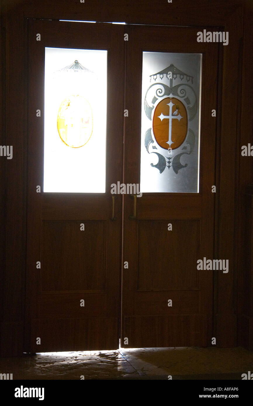 door stained glass drawing colorful church inside wax believers religion prayer enter exit & door stained glass drawing colorful church inside wax Stock ...