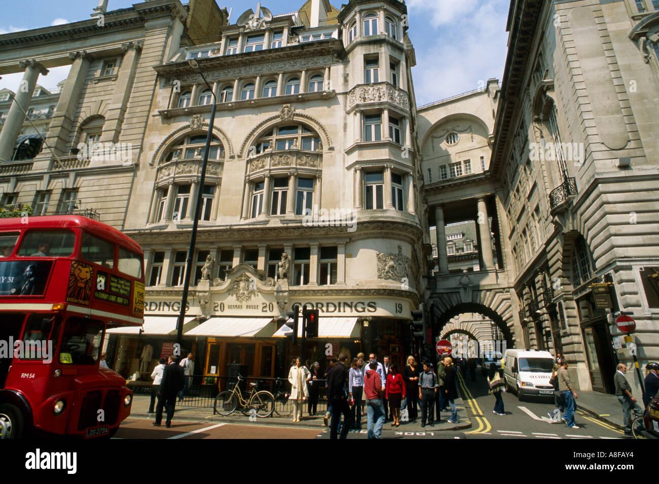 U K Britain England London Picadilly street scene - Stock Image