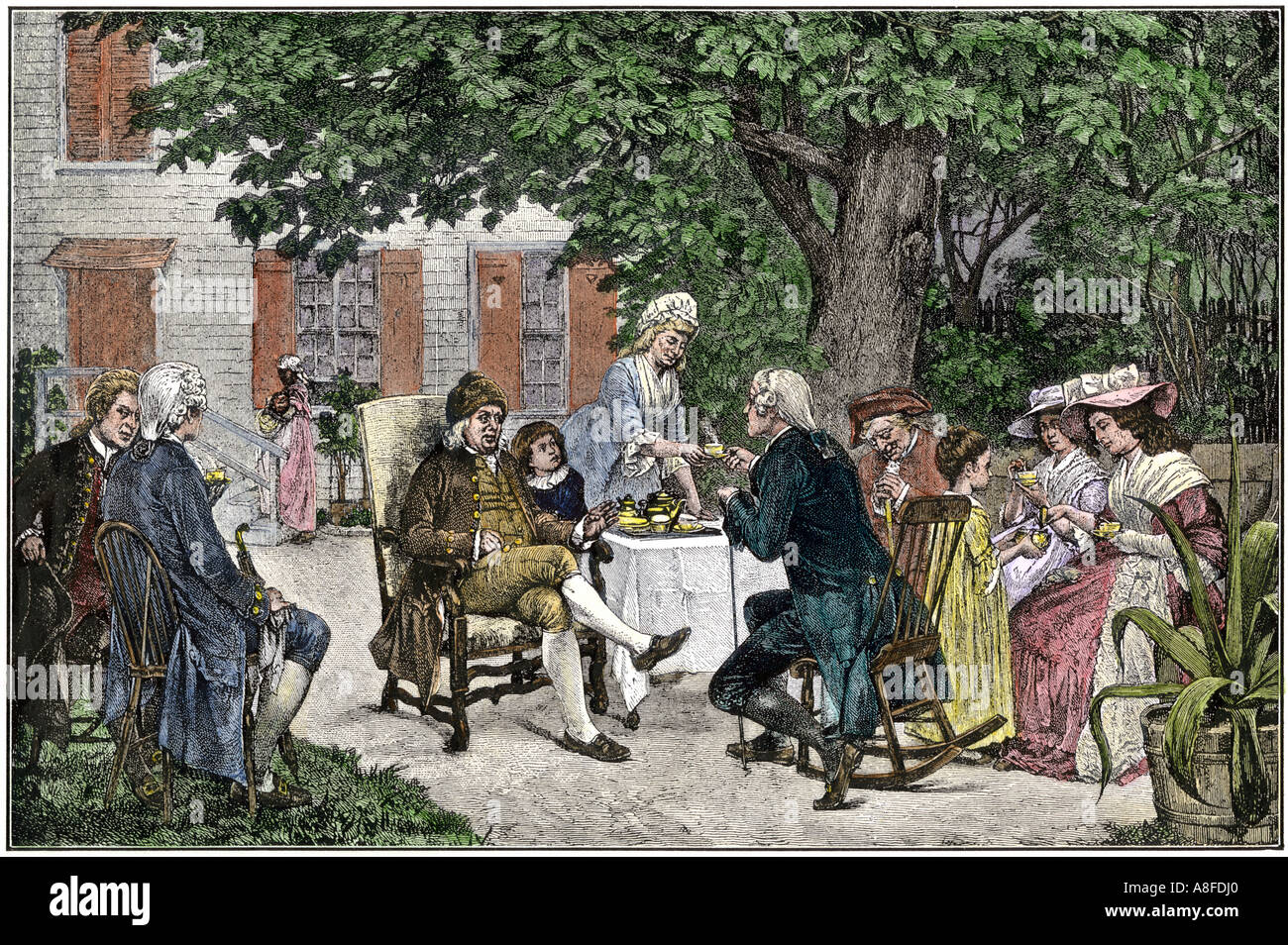 Ben Franklin Alexander Hamilton and others discuss the framing of ...