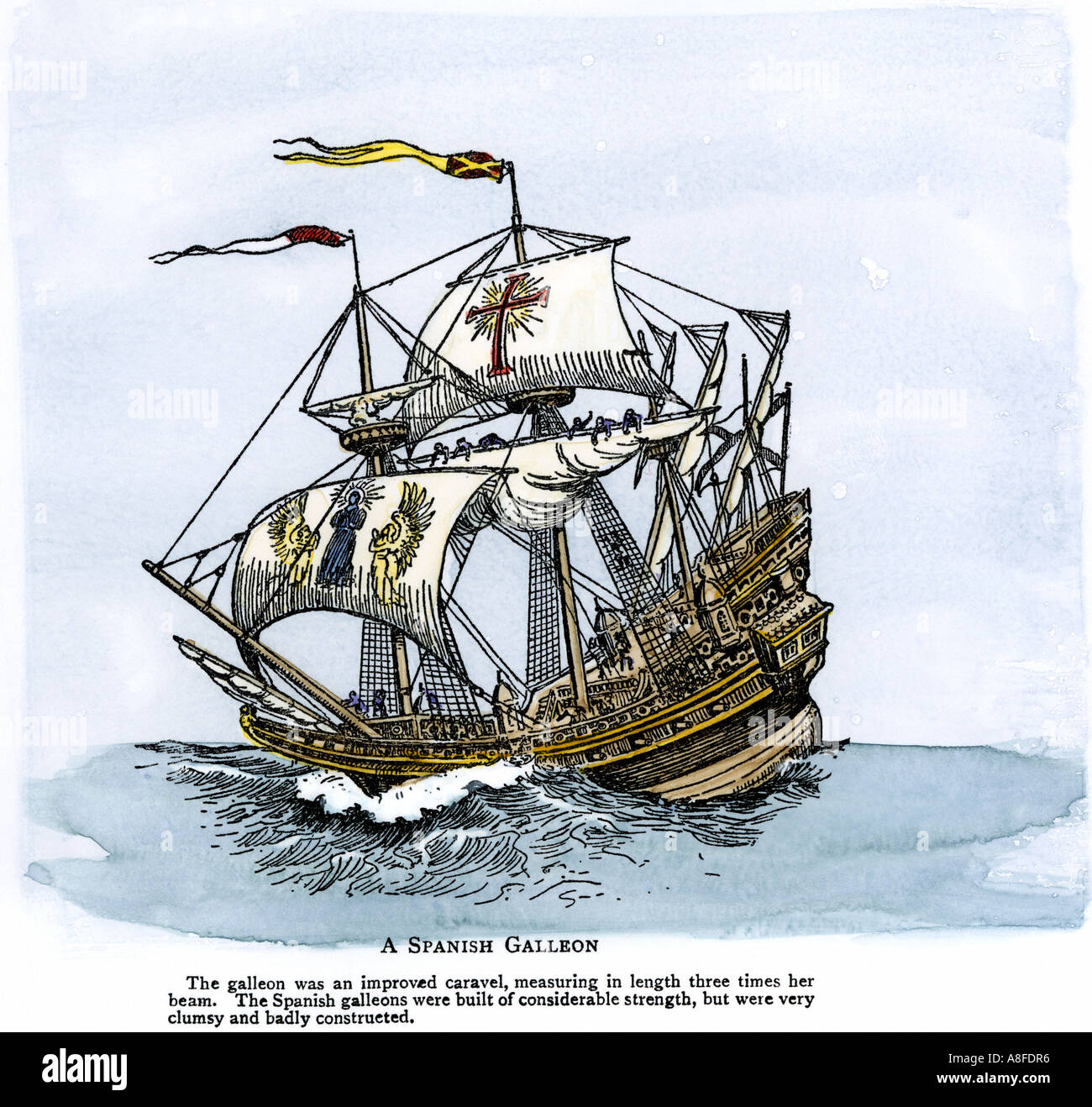 Spanish galleon an improved caravel its length three times its width spanish galleon an improved caravel its length three times its width sailed in the 1500s and 1600s publicscrutiny Choice Image