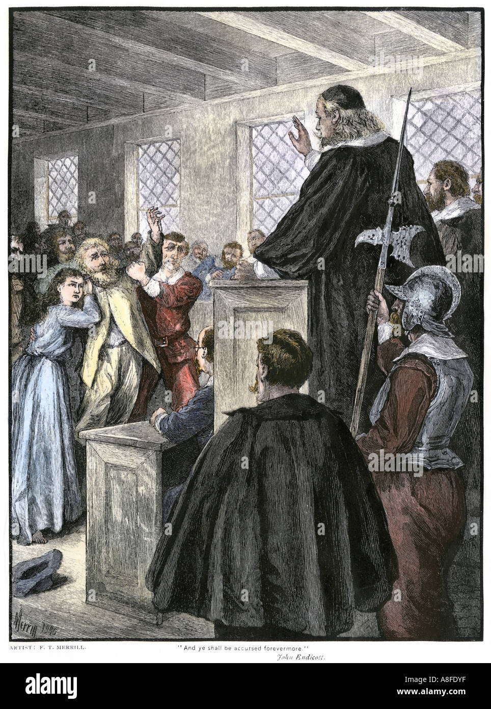 guilty verdict pronounced at the salem witch trials in massachusetts
