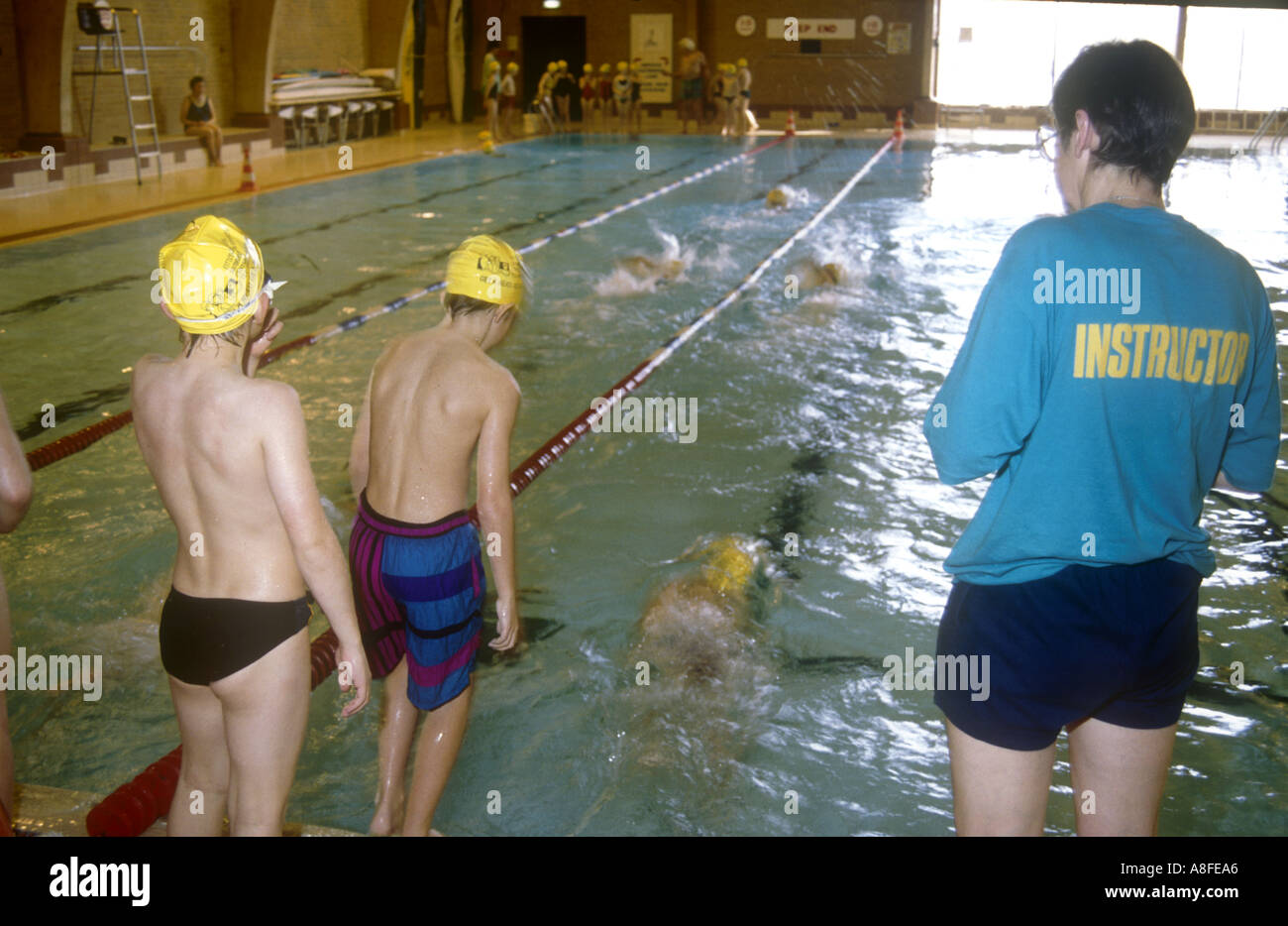Children english class stock photos children english class stock images alamy for Williams indoor pool swim lessons