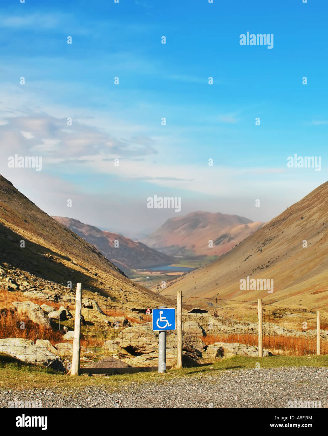 Disabled Parking with a View - Stock Image