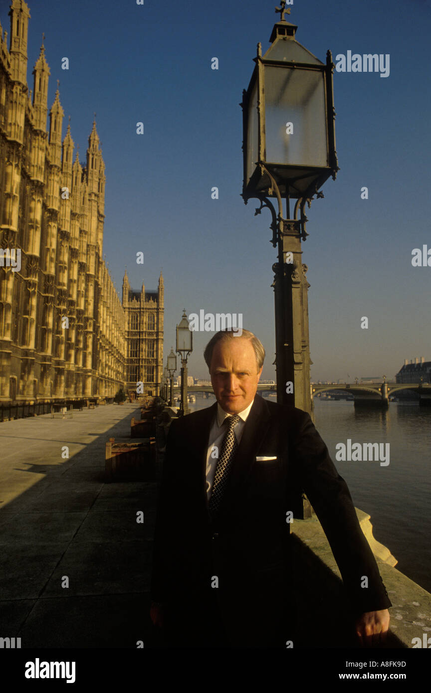 Winston Churchill MP grandson to Sir Winston Churchill at the Houses of Parliament London Circa 1975  HOMER SYKES - Stock Image