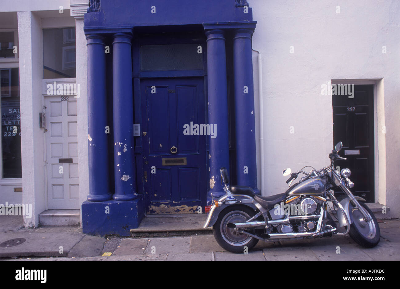 Blue Door used in the Hugh Grant film Nottinghill Notting hill Gate West London  HOMER SYKES - Stock Image